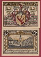Allemagne 1 Notgeld  De 25 Pf  Stadt  Forst ( RARE) Dans L 'état   Lot N °365 - Collections