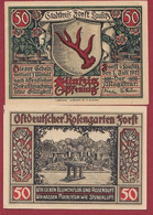 Allemagne 1 Notgeld  De 50 Pf  Stadt  Forst ( RARE) Dans L 'état   Lot N °366 - Collections