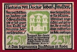 Allemagne 1 Notgeld  De 25 Pf  Stadt  Roda ( RARE) Dans L 'état   Lot N °367 Bis - Collections