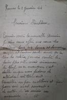 G 17 Lettre /document  Courrier Rennes 1944 - 2. Weltkrieg 1939-1945