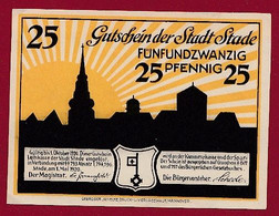 Allemagne 1 Notgeld  De 25 Pf  Stadt  Stade ( RARE) Dans L 'état   Lot N °376 - Collections