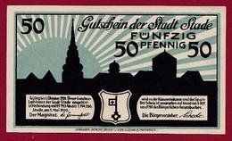 Allemagne 1 Notgeld  De 50 Pf  Stadt  Stade ( RARE) Dans L 'état   Lot N °377 - Collections