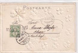 "Stabstempel ""Mons"" Auf Prägekarte - 1901      (P-344-10304) - Postmark Collection"
