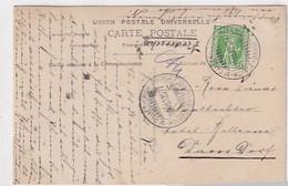 """Bahnpoststempel """"Zürich-St.Gallen-Chur-Zürich"""" - 1925 Auf Ansichtskarte       (P-344-10304) - Ferrovie"""