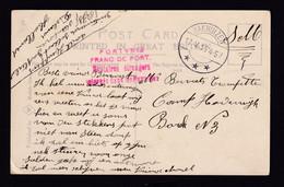 DOUBLE Internés Belges En NL - Carte D'un Interné Au Camp De GAASTERLAND Friesland - BAKHUIZEN 1915 Vers HARDERWIJK - Otras Zonas