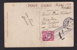 REFUGIES BELGES En UK - Carte-Vue De DARWEN 1915 Vers CLITHEROE - Taxée 1 D , Taxation Annulée - Otras Zonas