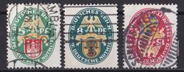 Deutsches Reich 1928 - Mi.Nr. 425 - 427 Y - Gestempelt Used - Usati