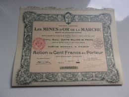 MINES D'OR DE LA MARCHE - Unclassified