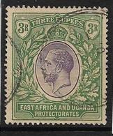 EAST AFRICA AND UGANDA PROTECTORATES 1912 - 1921 3R SG 55 FINE USED Cat £130 - Protectorados De África Oriental Y Uganda