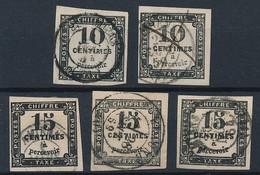 EC-640: FRANCE: Lot Avec Taxes N°2(2)-3(3) Obl , Margés - 1859-1955 Gebraucht