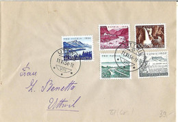 Schweiz Suisse Pro Patria 1954: Zu WII 66-70 Mi 597-601 Yv 548-552Orts-Brief Mit Stempel UTTWIL 11.VI.54 (Zu CHF 55.00) - Covers & Documents