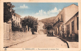 CPA - Algerie, HERBILLON, Rue Principale Et Maison Sais, 1943 - Altre Città