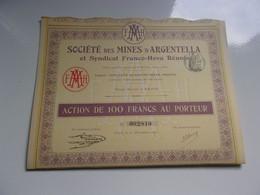 MINES D'ARGENTELLA  (corse) 1911 - Non Classificati