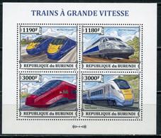BURUNDI 2013 BU088 High-speed Trains. Railway. Locomotives - Trains