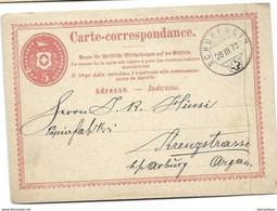 161 - 77 - Entier Postal Avec Cachet à Date Schupfheim 1872 - Léger Pli Vertical - Postmark Collection
