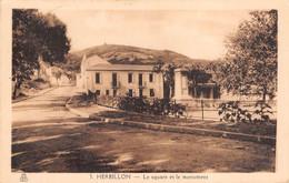 CPA - Algerie, HERBILLON, Le Square Et Le Monument , 1943 - Altre Città