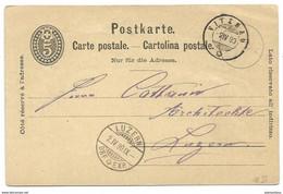 161 - 73 - Entier Postal Avec Cachets à Date De Vitznau Et Luzern 1890 - Postmark Collection