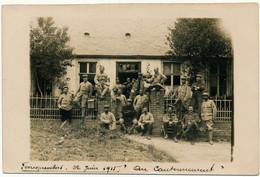 """FONCQUEVILLERS - Carte Photo Militaire, 1915 - """"Au Cantonnement"""" - Altri Comuni"""