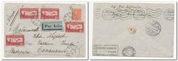 Belle Lettre Par Avion De Vannes Pour Tananarive 2/7/1930 Via Alexandrie Avec 4x 1,50F (PA YT N°5 ) + Semeuse 50c YT 122 - Luchtpost