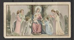 Image Pieuse Vierge à L'enfant Et Anges - Devotieprenten