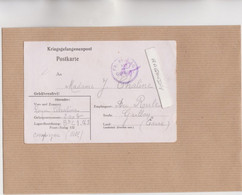 MARCOPHILIE - MILITARIA - COMPIEGNE - FRONTSTALAG 122, CAMP DE ROYALLIEU 1942 CARTE LETTR Pris Support écrit En Allemand - Oorlog 1939-45
