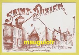 52 HAUTE MARNE / SAINT-DIZIER / VIEUX QUARTIER DE GIGNY / 1ere EXPOSITION CARTOPHILE 6-7 FEVRIER 1982 / NUMEROTÉE 00236 - Saint Dizier