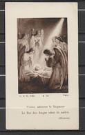 Image Pieuse Noël Et Anges - Devotieprenten