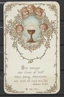 Image Pieuse Communion Avec Anges 3 Avril 1921 - Devotieprenten