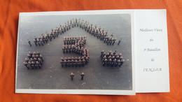 CPM DOUBLE REGIMENT  3 EME BATAILLON DE L ENSOA ELEVES SOUS OFFICIERS DE ST MAIXENT MILITARIA FORMAT 11 PAR 20 CM - Regimenten