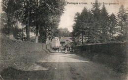 Hollogne S/Geer  Route Du Bourgmestre  Charette Vaches Animée Voyagé En 1910 - Geer
