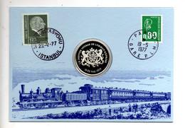 """Numisbrief In Mappe: Die Letzte Reise Des Orient-Express"""" Mit Sonderstempel Paris U. Istanbul, Internat. Wagons-Lits - Andere - Europa"""