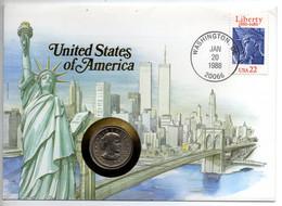 "Numisbrief ""United States Of America"", Mit 1 Dollar-Münze, Brief Gestempelt Washington 20.1.1988 - Other - America"
