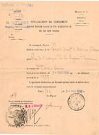 "FRANCE Guerre 14/18, Documents"" TRESOR ET POSTES 1916"". - Wars"