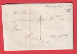 TAXE 1 FRABRICATION LOCALE BOITE RURALE SEULE CHARMONTOIS MARNE 1850 - 1801-1848: Precursori XIX
