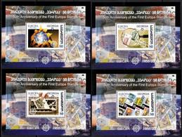 (003-06) Georgia / Europa Jubilee Sheets / Bf / Blocs  **  / Mnh  Michel BL 35-38 - Georgië