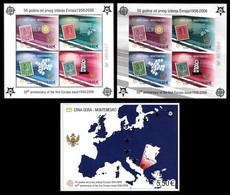(001-03) Montenegro / Europa Jubilee Sheets / Bf / Blocs  ** / Mnh Michel BL 2 A+B + 3 - Montenegro