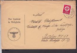 Brief Deutsches Reich Dienstmarken  Stempel  Besigheim 1937 - Briefe U. Dokumente