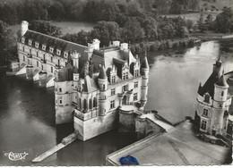 37 - Chenonceaux - 1 A- Vue Aérienne - Le Château  *CPSM * - Chenonceaux