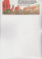 BIGLIETTO  SOTTOSCRIZIONE   NAZIONALE PER IL RAFFORZAMENTO  DEL  PARTITO E STAMPA COMUNISTA. 1988 - Historical Documents