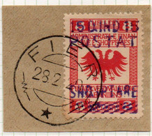 12CRT237 - ALBANIA 1919, Yvert 90 ( Michel 61 II ) Usato. - Albanië