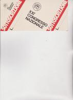 BIGLIETTO  SOTTOSCRIZIONE   XXI  CONGRESSO  NAZIONALE.  F.G.C.I. - Historical Documents