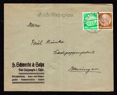 DR Brief BAD SALZUNGEN - Wasungen - 11.6.35 - Mi.513,515 - Covers & Documents