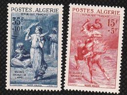 Année 1957-N°346+348 Neufs**MNH :  Tableaux : Musée Des Beaux Arts D'Alger - Nuovi