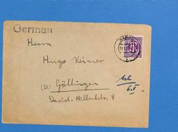 Allemagne Bizone 1946 Lettre De Hanau (G2825) - Zona Anglo-Americana