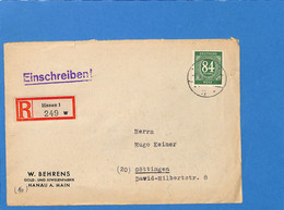 Allemagne Bizone 1946 Lettre De Hanau (G2826) - Zona Anglo-Americana
