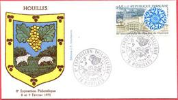 Env. FDC - France (Houilles - 08 Et 09-02-75) - 8ème Exposition Philatélique (1) - 1970-1979