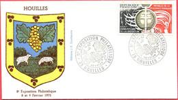 Env. FDC - France (Houilles - 08 Et 09-02-75) - 8ème Exposition Philatélique (2) - 1970-1979