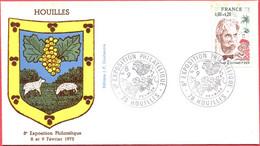Env. FDC - France (Houilles - 08 Et 09-02-75) - 8ème Exposition Philatélique (3) - 1970-1979