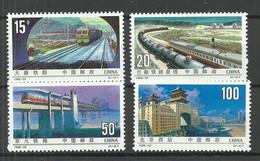 CHINA 1996 Michel 2750 - 2753 MNH Eisenbahnbau Train Zug Eisenbahn - Trains
