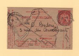 Pneumatique Marseille - 1934 - 1f50 Chaplain - Signature CHAPLIN -  Rare - Standard Covers & Stamped On Demand (before 1995)